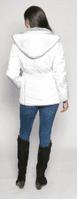 Womens White Luxury Padded Hooded Jacket db730